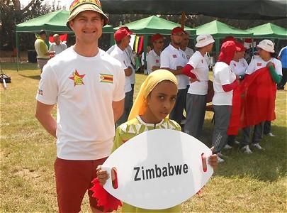 Achievements, associate memeber Gavin Sutherland represents Zimbabwe