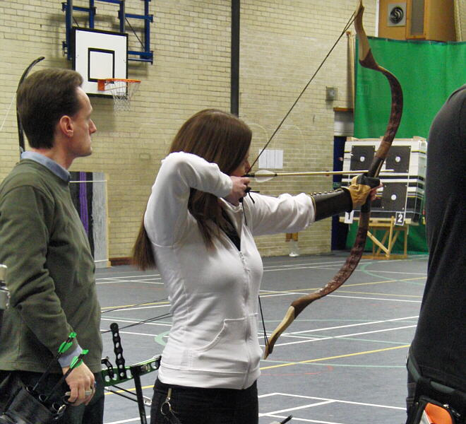 Asiatic bow shot in competition